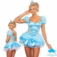 [即納]シンデレラ姫 プリンセス ハロウィン 仮装 コスプレ 4点セット ディズニー キャラ シンデレラ 童話 グループ コスチューム