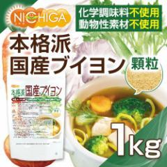 洋風スープの素 本格派国産ブイヨン 1kg(計量スプーン付) 化学調味料無添加 動物性素材不使用 [02] NICHIGA ニチガ