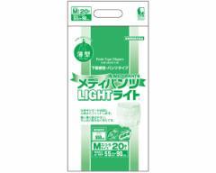 介護用紙オムツ メディパンツライトM-20 20枚×4袋 2101→3205 近澤製紙所