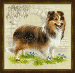 RIOLISクロスステッチ刺繍キット No.1710 「Sheltie」 (シェルティ シェットランドシープドッグ 犬)