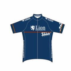 Lion de KAPELMUUR リオン・ド・カペルミュール 半袖ジャージ 千鳥チップ ネイビー  lihs204