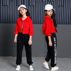 子供 ダンス 衣装 3点 ヒップホップ ダンストップス HIPHOP キッズダンス衣装 上下セットアップ ステージ衣装 ジャズダンス ウエア 衣装