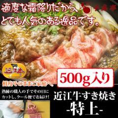 牛肉 すき焼き 近江牛 特上 500g入り お肉ギフト のしOK お中元 ギフト