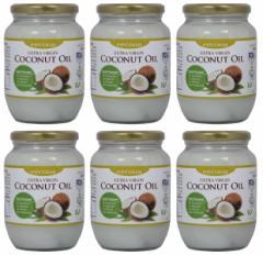 エクーア エキストラバージンココナッツオイル 有機JAS認証、USDA、EUオーガニック認証 (500ml 6本セット)