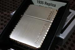 【レプリカZIPPO】 1935レプリカ zippoロゴ入り ◆ピンクゴールド&シルバー◆コーナーカット 金 銀 おしゃれ 人気 プレゼント 送料無料