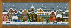 RIOLISクロスステッチ刺繍キット No.1683 「Christmas City」 (クリスマスの街) 【海外取り寄せ/納期1〜2ヶ月】