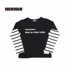 WAMWAM ワムワム 子供服 18春 ソフト天竺長袖Tシャツ wam85240