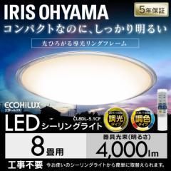 【ポイントセール】シーリングライト 8畳 調光 調色 LED メタルサーキット クリア 天井照明 電気 照明 CL8DL-5.1CF アイリスオーヤマ