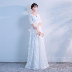 820be68749937 ロングドレス 二次会 イブニングドレス 演奏会 Long dress ドレス ファスナー 二次会 花嫁 結婚式 ウェディング