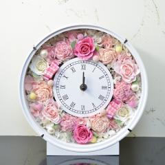 本州送料無料 プリザーブドフラワー ピンクバラ 花時計 開店祝い 開業祝い 新築祝い 結婚祝い