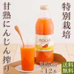 にんじんジュース 人参ジュース 甘熟にんじん 特別栽培 無農薬 350ml×12本 送料無料