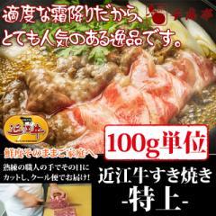 牛肉 すき焼き 近江牛 特上 100g単位 便利な小分け対応 お肉ギフト のしOK お中元 ギフト
