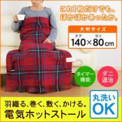 電気ホットストール 電気毛布 電気ひざ掛け毛布 掛け 敷き ツインバード DM-4884 羽織る 4WAY 電気ストール