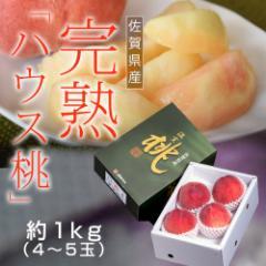 桃 もも モモ ギフト 佐賀 JAからつ 完熟 ハウス桃 約1キロ 4〜5玉