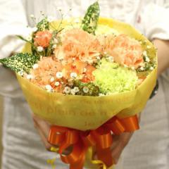 【送料無料】【母の日】【生花・花束】カーネーションのブーケ(ビタミンカラー) FL-MD-808