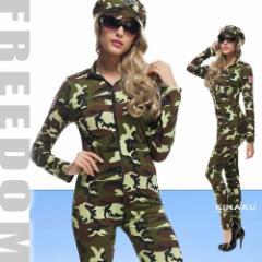 b3b6d0c36642f セール コスプレ 衣装 兵士 ポリス ハロウィン♪オールインワンボディスーツスタイルの迷彩柄アーミーミリタリー