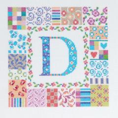 DMCクロスステッチ刺繍キット BK1208 「Patch letter」