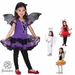 dd3f875740403 ハロウィン 衣装 子供 コウモリ コスプレ コスチューム てんとう虫 天使 蝶 パーティー仮装 コスチューム 妖精 魔女 女の子