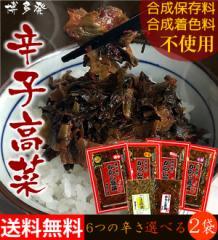からし高菜(辛子高菜) 選べる250g×2袋 送料無料 樽味屋 高菜漬け 激辛・中辛・明太子・小辛 (バリ辛・ごまは200g)ぽっきり
