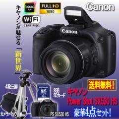 キヤノンPowerShot SX530 HS[豪華4点セット]( 画素 撮影 モニター 手ブレ 光学 Wi-Fi NFC カメラ ズーム キャノン)