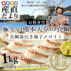 熊本県 天草から 産地直送品!極上の熊本天草の真鯛「真鯛湯引き柚子〆ロイン」合計約1キロ(4枚入り)