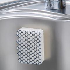 スポンジ シンク用 フッ素ガード 貼りつく シンク洗い フッ素 キッチン掃除 ネットスポンジ フッ素加工 ( 掃除 そうじ 清掃 キッチン 掃