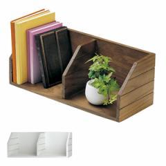 特価 ブックスタンド 本棚 天然木 チェリーウッド 幅47cm ( 卓上本棚 本立て ディスプレイラック ブックシェルフ コーナーラック ブック