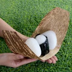竹皮 天然竹皮 おにぎり 8枚入 ( お弁当 おにぎりケース おにぎり用 ちまき 天然木 たけかわ 木の皮 うすかわ ランチ ピクニック お弁当