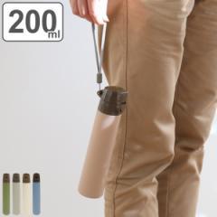 水筒 直飲み ステンレス ROCCO スリムボトル 200ml ( 保温 保冷 コンパクト ステンレスボトル ダイレクトボトル ステンレス製 ストラッ