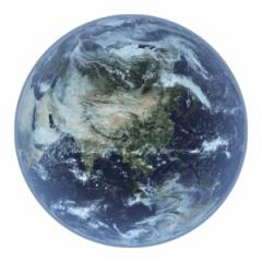 ハンドタオル リアルモチーフタオル 地球 EARTH 星 おもしろグッズ ( リアル モチーフタオル 天体 惑星 ハンカチタオル 本物みたい おも