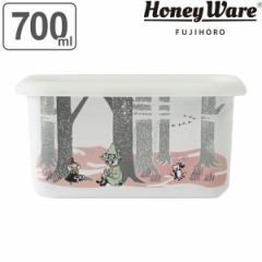 保存容器 ホーロー製 700ml 深型 角型 ムーミン 富士ホーロー ( ホーロー容器 琺瑯容器 深型容器 オーブン対応 角型容器 ストッカー ス