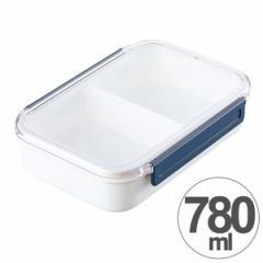 お弁当箱 NEOISM ランチボックス 4号 1段 780ml 仕切り付き ( 弁当箱 電子レンジ対応 一段 ロック式 シンプル 保存容器 )