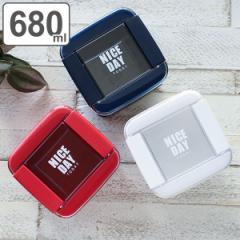 お弁当箱 2段 680ml パッキン一体式 イージーケアランチボックス ( 弁当箱 ランチボックス 女子 大人 食洗機対応 レンジ対応 抗菌加工