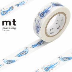 マスキングテープ mt リサラーソン Retrobirds 幅15mm ( カモ井加工紙 マステ 和紙テープ エムティー ラッピング デコレーション コ
