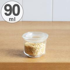 キントー KINTO 保存容器 Cast ガラスリッドキャニスター 浅型 S 90ml ( 耐熱ガラス 食品保存 密閉 キッチン用品 キッチン収納