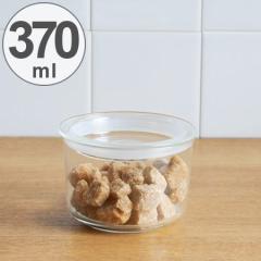 キントー KINTO 保存容器 Cast ガラスリッドキャニスター 浅型 L 370ml ( 耐熱ガラス 食品保存 密閉 キッチン用品 キッチン収納