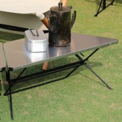 アウトドア テーブル ステンレストップ 1台 アーチテーブル シングル ヘキサテーブル ( ハングアウト HangOut アウトドアテーブル レジ