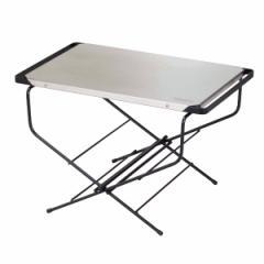 アウトドアテーブル サイドテーブル ステンレストップ 幅50×奥行38×高さ33cm ファイアーサイドテーブル ( ハングアウト HangOut アウ
