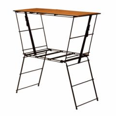 アウトドア テーブル クッキングテーブル クランク 幅90×奥行40×高さ90.5cm ( 調理台 アウトドアテーブル レジャーテーブル 折りたた