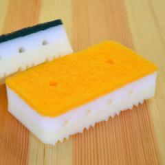 キッチンスポンジ 食器洗い 泡立ち クロスホールドキッチンスポンジ ソフト ( キッチン スポンジ 台所スポンジ 食器用スポンジ 食器洗い