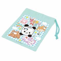 コップ袋 ゆかいなアニマルバス 子供用 キャラクター 日本製 ( 子供 給食袋 子供用コップ 袋 コップ 歯ブラシ袋 子ども こども キッ