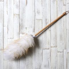 ウールダスター L NUKUMOKU ( ほこりとり はたき モップ シンプル おしゃれ 羊毛 埃 ホコリ 掃除 清掃 電化製品 家具 ホコリとり ハンド