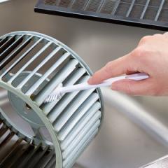 ブラシ 換気扇用ブラシ スポンジ ヘラ レンジフード キッチン掃除 ( 換気扇 シロッコファン 掃除ブラシ すき間掃除 すき間ブラシ ミニブ