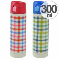 水筒 直飲み スリムワンプッシュボトル 300ml ステンレス製 スマイルピート ( 保冷 保温 機能付き マグボトル デザインボトル すい