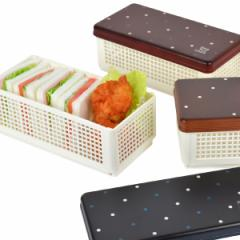 お弁当箱 サンドイッチケース Have a Lunch ドット ランチベーカリー 折りたたみ式 ( ランチボックス おにぎり おむすび 弁当箱