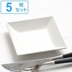 プレート 角皿 10cm クリーンコート プラスチック 皿 食器 山中塗り 日本製 同色5枚セット ( 食洗機対応 電子レンジ対応 小皿 角 白 薬
