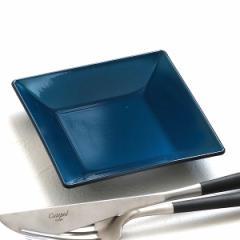 プレート 角皿 10cm 藍彩 クリーンコート プラスチック 皿 食器 山中塗り 日本製 ( 食洗機対応 電子レンジ対応 小皿 角 薬味皿 醤油 漬