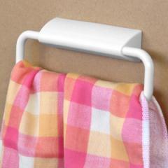 タオルハンガー はってはがせる タオルかけ ワイド ( タオルホルダー タオル掛け 洗面 キッチン 手拭き ふきんかけ 収納 バス用品 サ