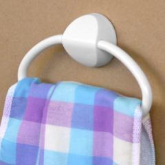 タオルハンガー はってはがせる タオルリング ( タオルホルダー タオル掛け 洗面 キッチン 手拭き ふきんかけ 収納 バス用品 サニタリ