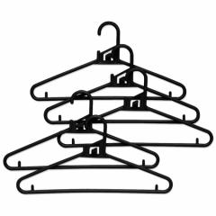 クイックハンガー 衣類ハンガー 連結 5本組 ( 洋服ハンガー プラスチック製 洋服掛け 衣服ハンガー 衣装ハンガー 衣類 収納 )